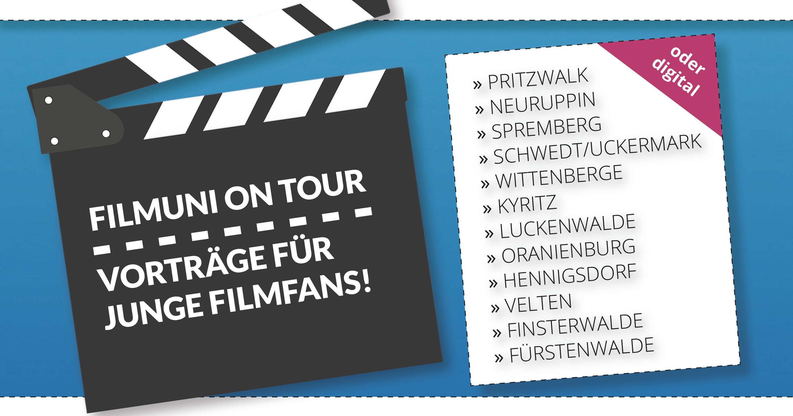 Die Kinderfilmuni und die Junge Filmuni gehen auch 2021 auf Tour!